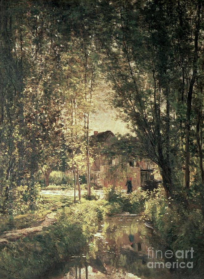 Landscape Painting - Landscape by Charles Francois Daubigny