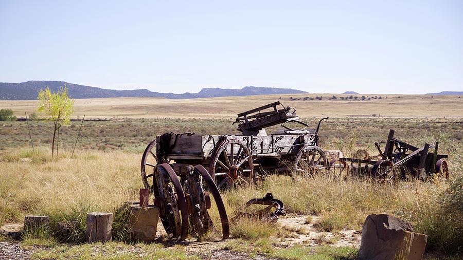 Wagon Photograph - Landscape Galisteo Nm A10a by Otri Park