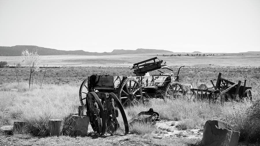 Wagon Photograph - Landscape Galisteo Nm A10b by Otri Park