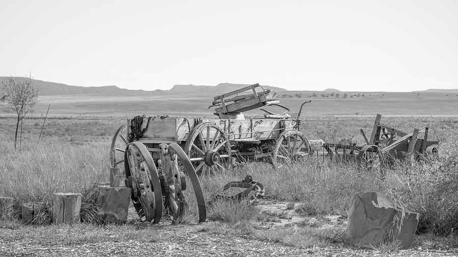 Wagon Photograph - Landscape Galisteo Nm A10g by Otri Park