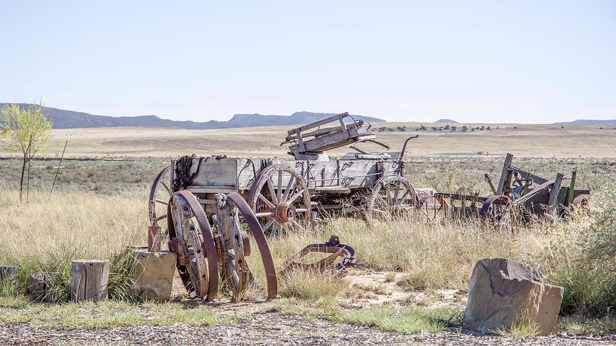 Wagon Photograph - Landscape Galisteo Nm A10i by Otri Park