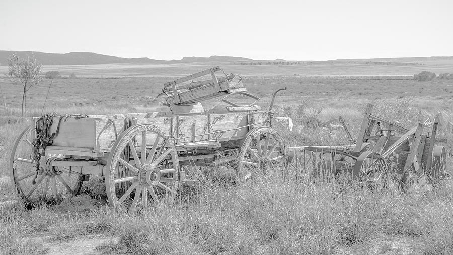 Wagon Photograph - Landscape Galisteo Nm A10k by Otri Park