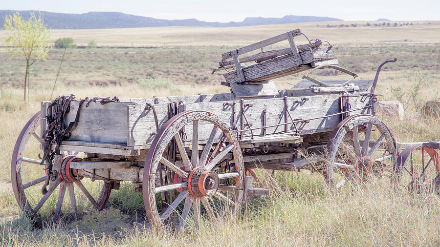 Wagon Photograph - Landscape Galisteo Nm A10m by Otri Park
