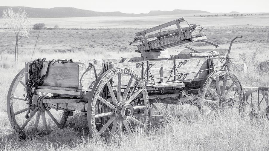 Wagon Photograph - Landscape Galisteo Nm A10n by Otri Park