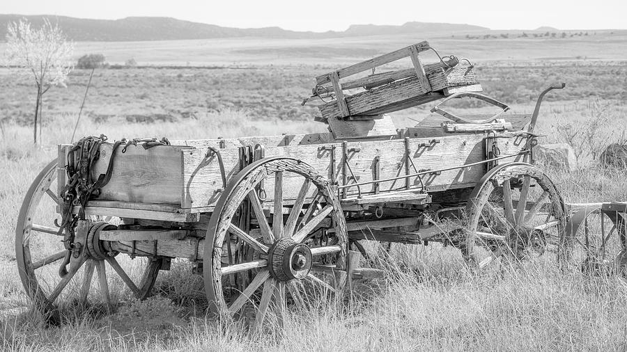 Wagon Photograph - Landscape Galisteo Nm A10r by Otri Park