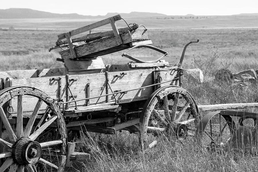 Wagon Photograph - Landscape Galisteo Nm A10w by Otri Park