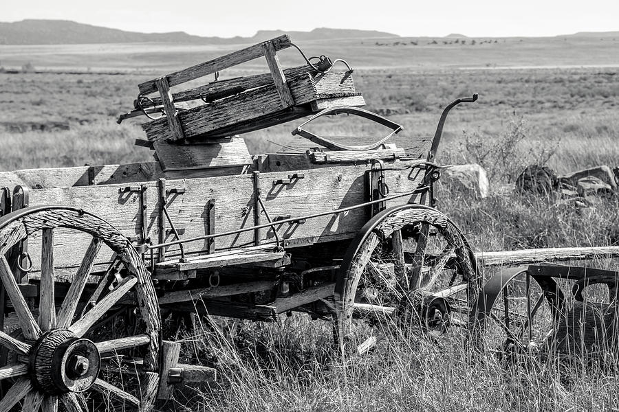 Wagon Photograph - Landscape Galisteo Nm A10z by Otri Park