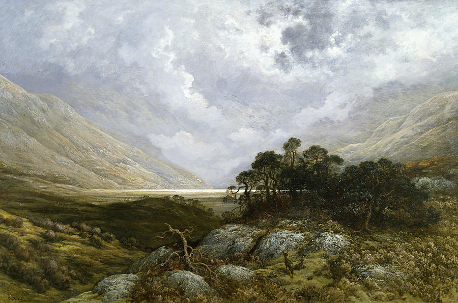 Landscape In Scotland Painting By Gustave Dore