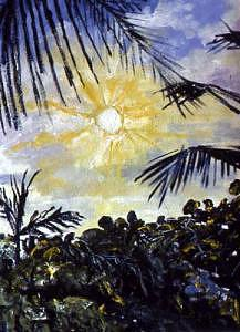 Landscape Mexico eighty-six Number Eleven Painting by Henry Klimowicz