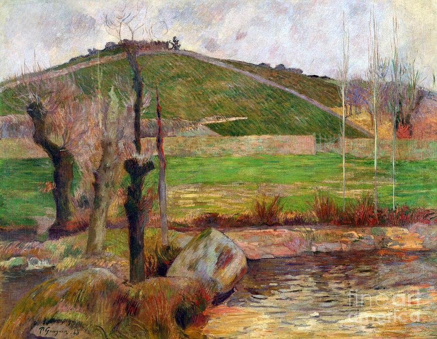 Paul Painting - Landscape Near Pont-aven by Gauguin
