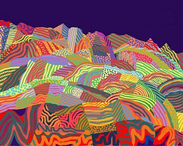 Landscape Number 6 Print by Howard Berelson