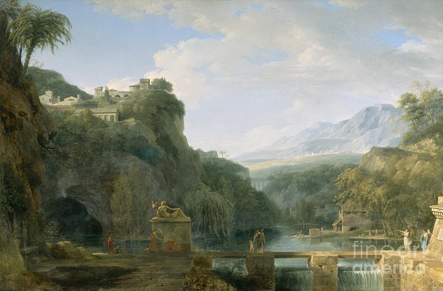 Landscape Painting - Landscape of Ancient Greece by Pierre Henri de Valenciennes