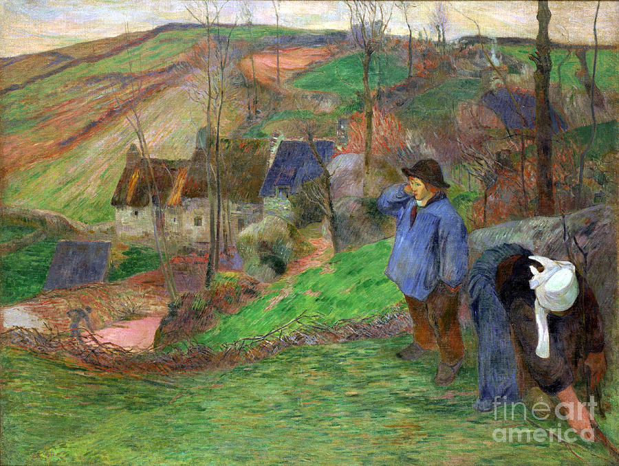Paul Painting - Landscape Of Brittany by Gauguin