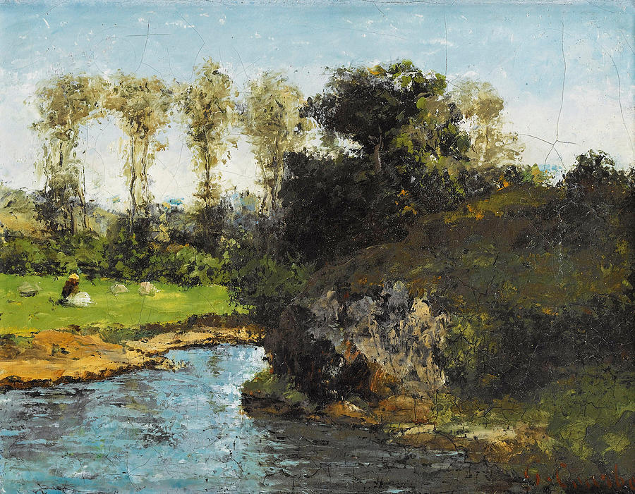 Gustave Courbet Painting - Landscape of Saintonge by Gustave Courbet