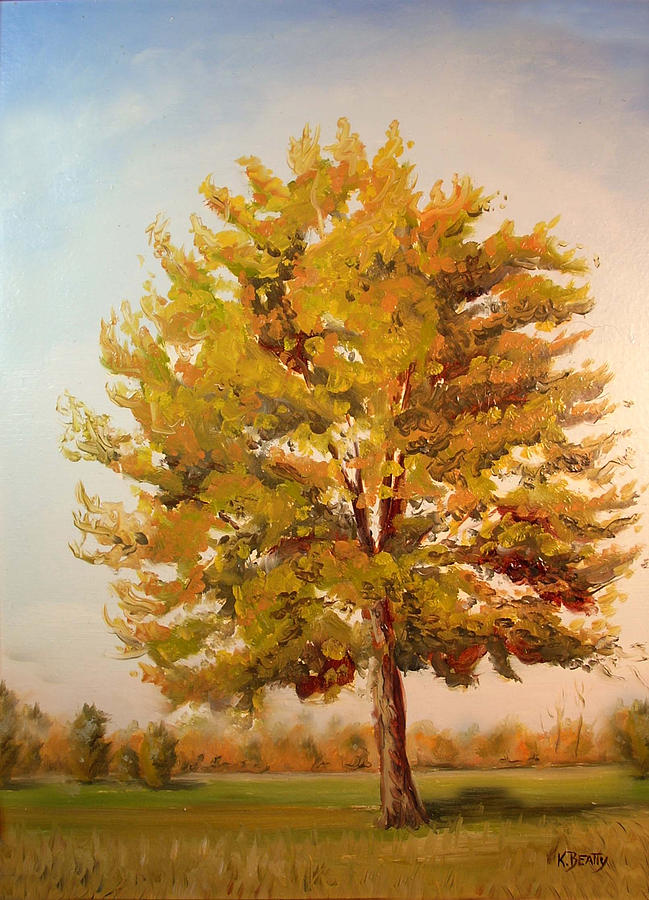 Tree Painting - Landscape Oil Painting by Karla Beatty