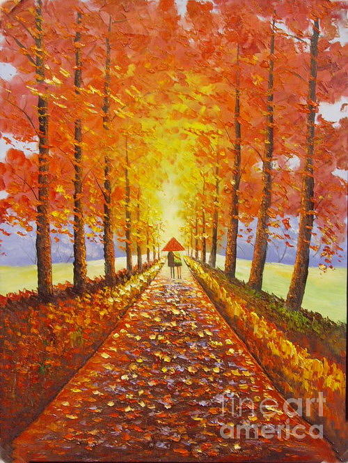Landscape Oil Painting-mp06 Painting by Amy