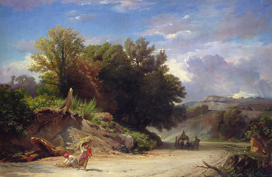 Landscape Painting - Landscape On The Outskirts Of Rome by Jean Achille Benouville