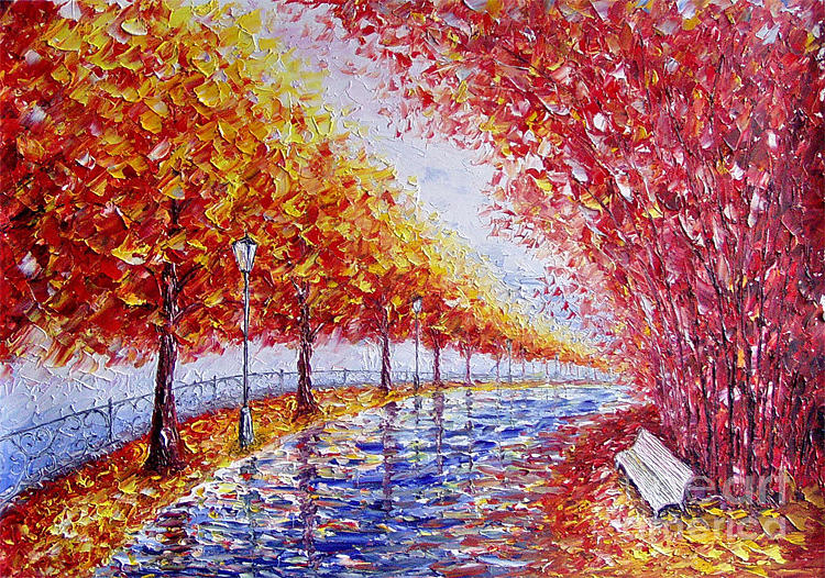 Landscape Painting - Landscape Painting Gold Alley by Valery Rybakow