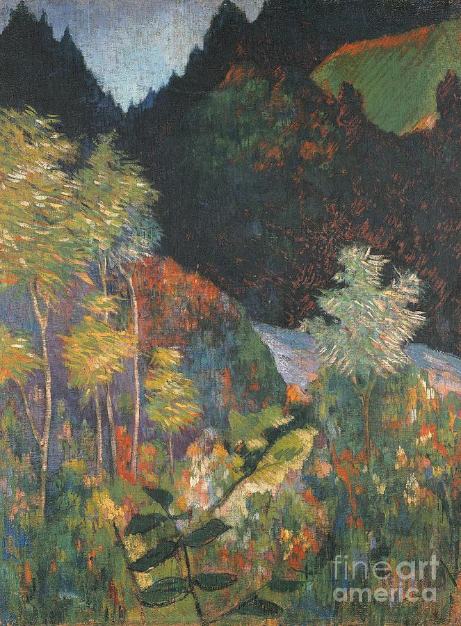 Gauguin Painting - Landscape by Paul Gauguin