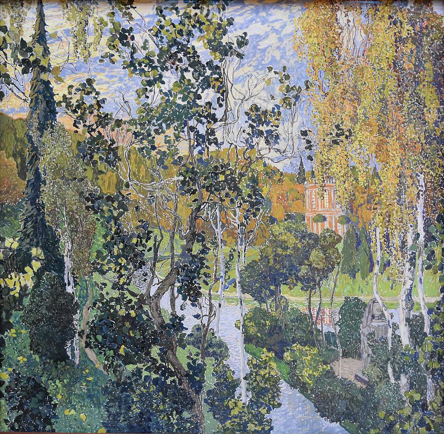 Russian Impressionism Painting - Landscape. Pavlovsk by Aleksandr Golovin