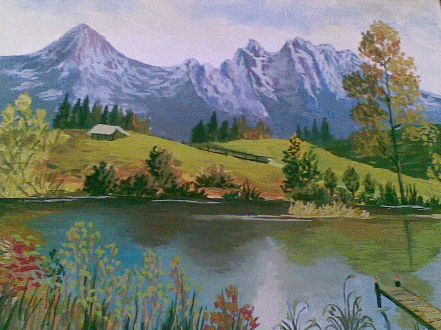 Landscape Painting by Samaneh Daemi
