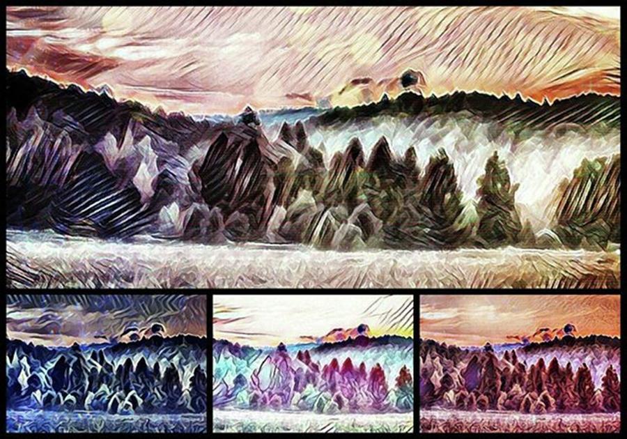 Pixlr Photograph - #landscape #sunset #psychedelic by Michal Dunaj