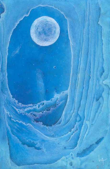 Ice Cave Mixed Media - Landscape Unknown by Lori Michelle Adams Hunter