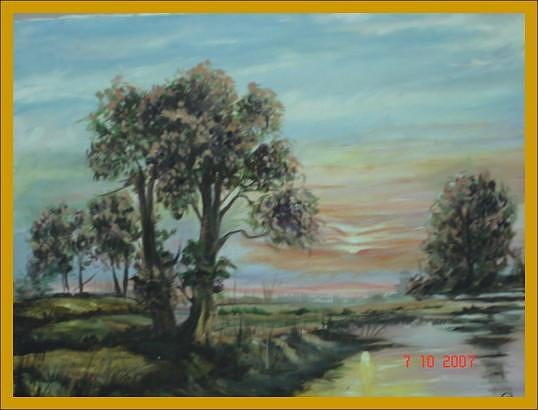 Landscape Painting Painting - Landscape-v by Dr Ruchi Vidyarthi