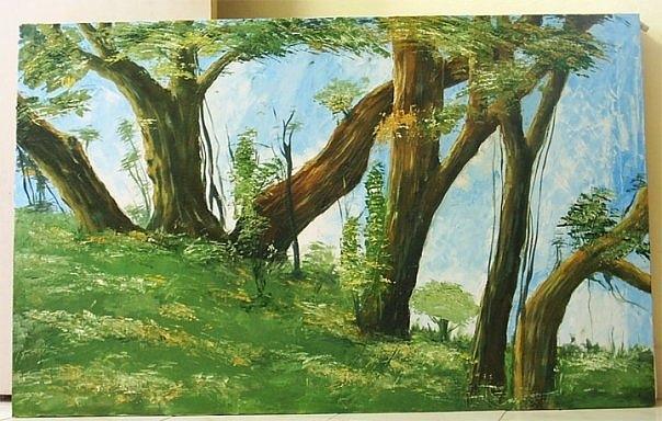 Landscape Paintings Painting - Landscape by Venkat Meruvu