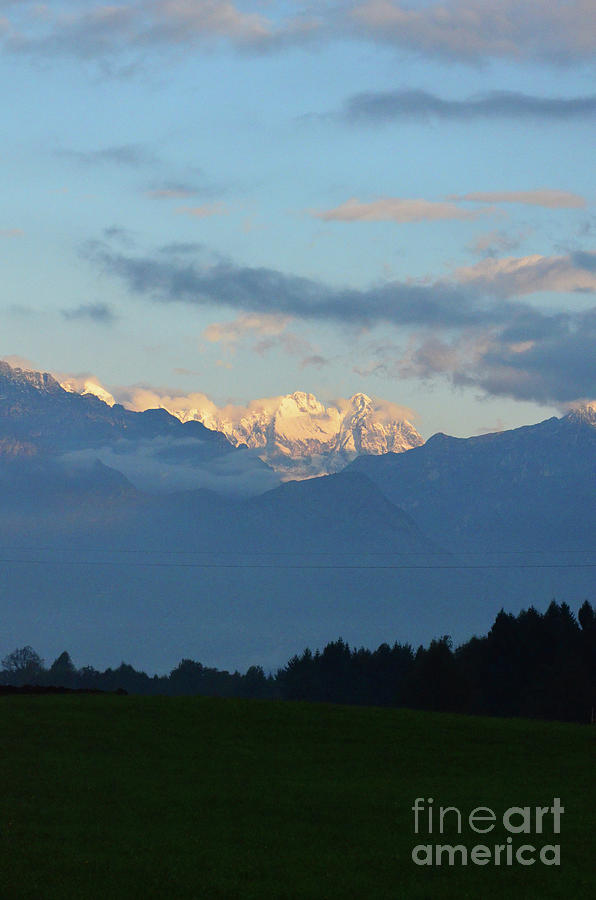 Mountains Photograph - Landscape View Of The Dolomite Mountains In Northern Italy by DejaVu Designs