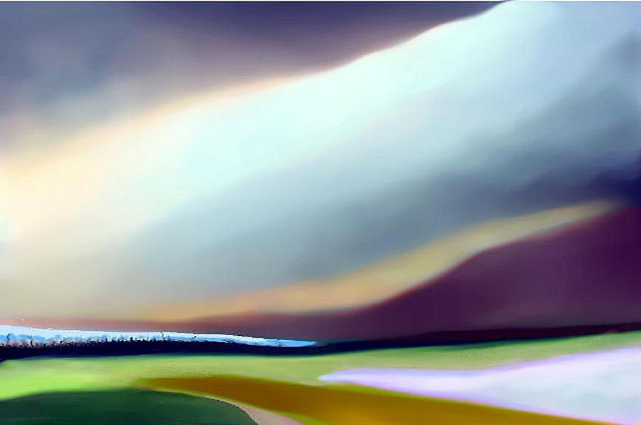Landscape Painting - Landscape by Vijay Kochar
