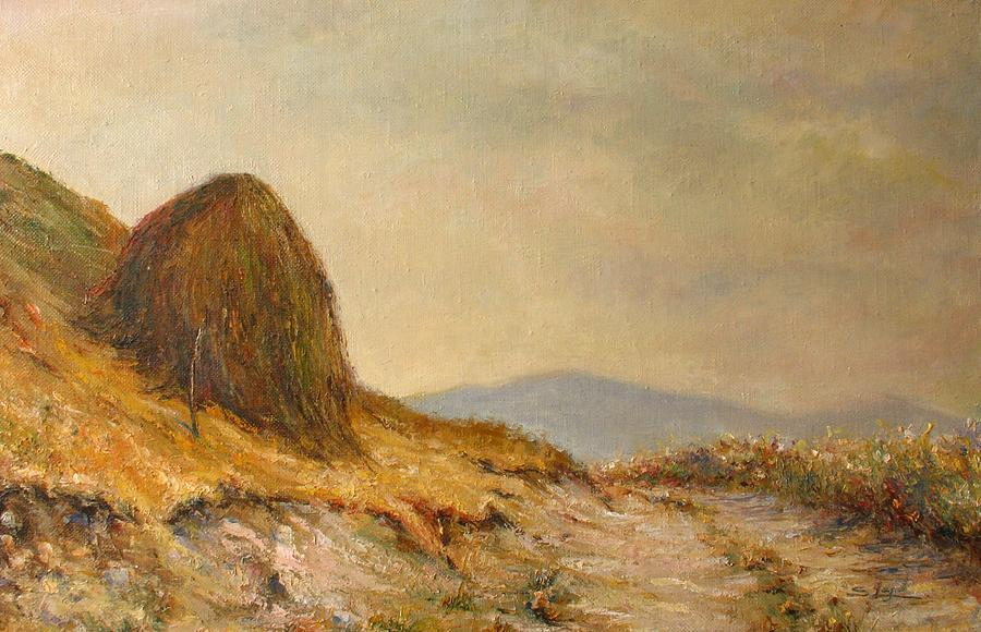 Landscape with a hayrick by Tigran Ghulyan