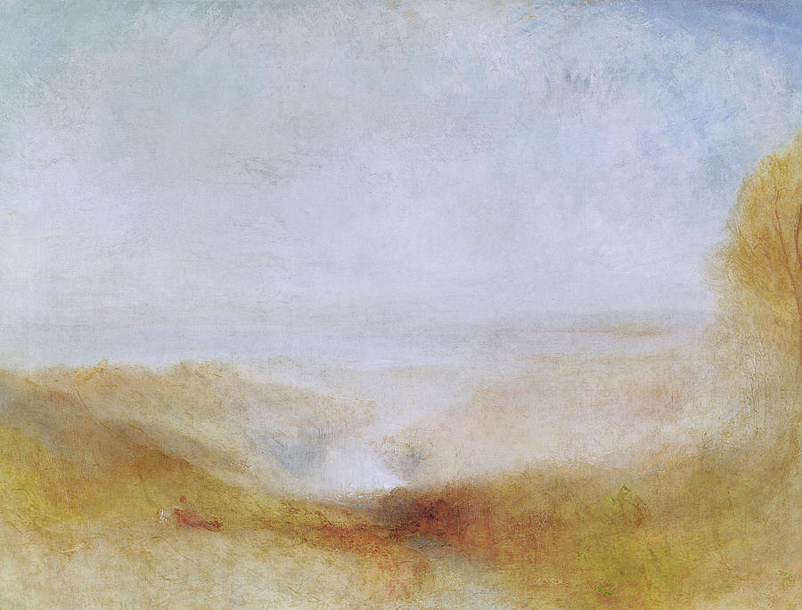 Mist Painting   Landscape With A River And A Bay In The Distance By Joseph  Mallord