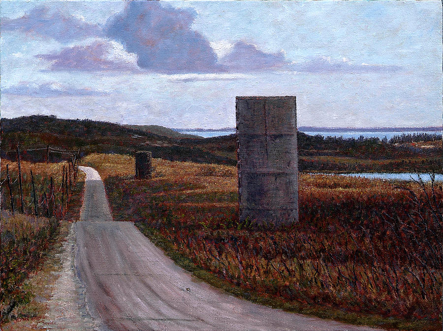 Landscape with Silos by Ritchie Eyma