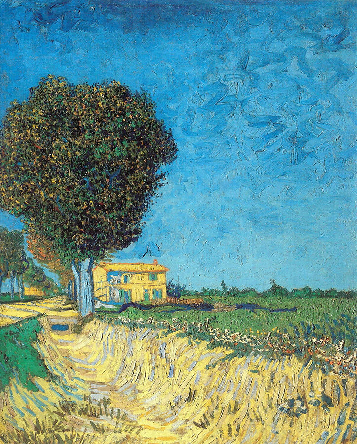 Vincent Van Gogh Painting - Lane Near Arles by Van Gogh