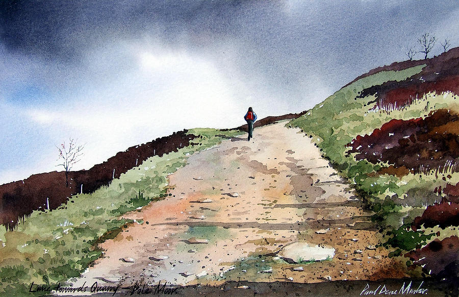 Landscape Painting - Lane To Quarry Pole Moor by Paul Dene Marlor