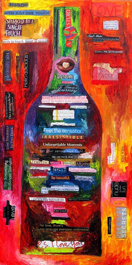 Wine Painting - Language Of Love by Patti Schermerhorn