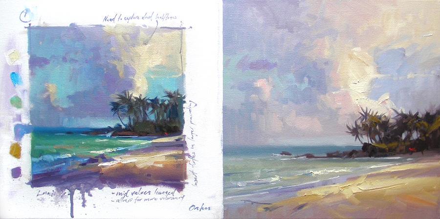 Hawaii Painting - Laniakea Studies by Richard Robinson