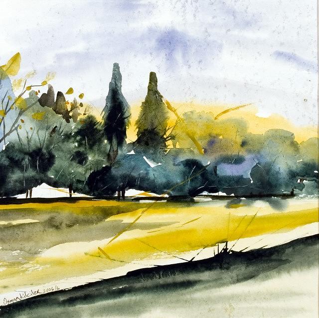 Landscape Painting - Lanndscape 2 by Osman Kilciler