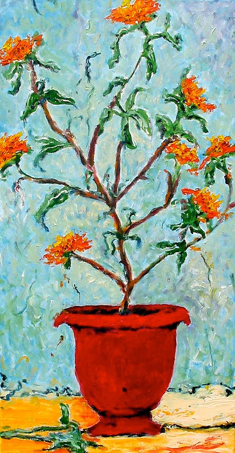 Original Painting - Lantana by Debi McSwain