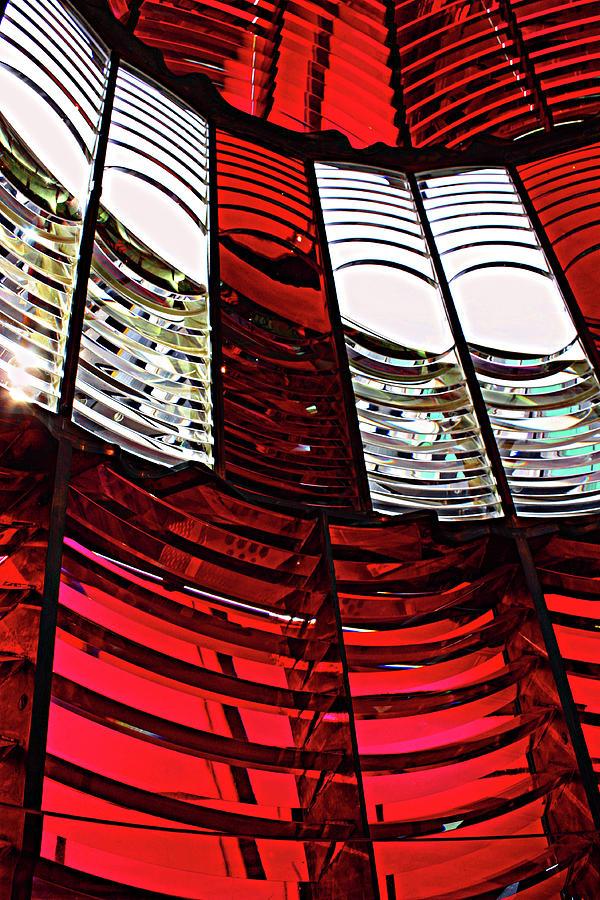 Oregon Lighthouse Photograph - Lantern Room by Kami McKeon