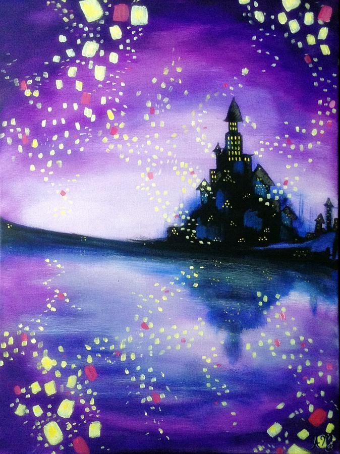 Lanterns Painting By Aurora Musser