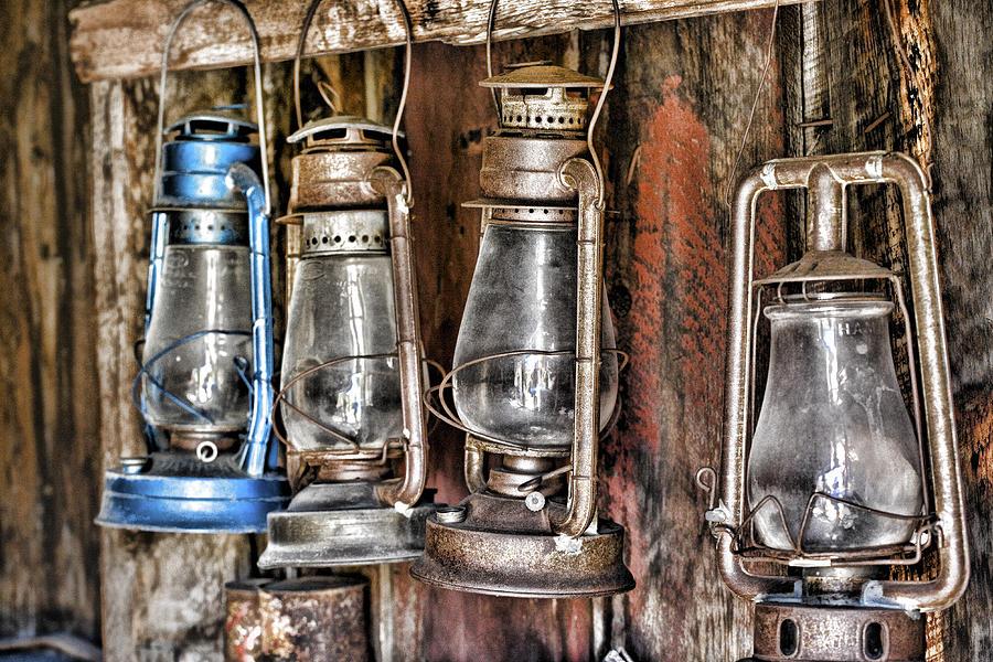 Antique Lanterns Photograph - Lanterns by Kelley King