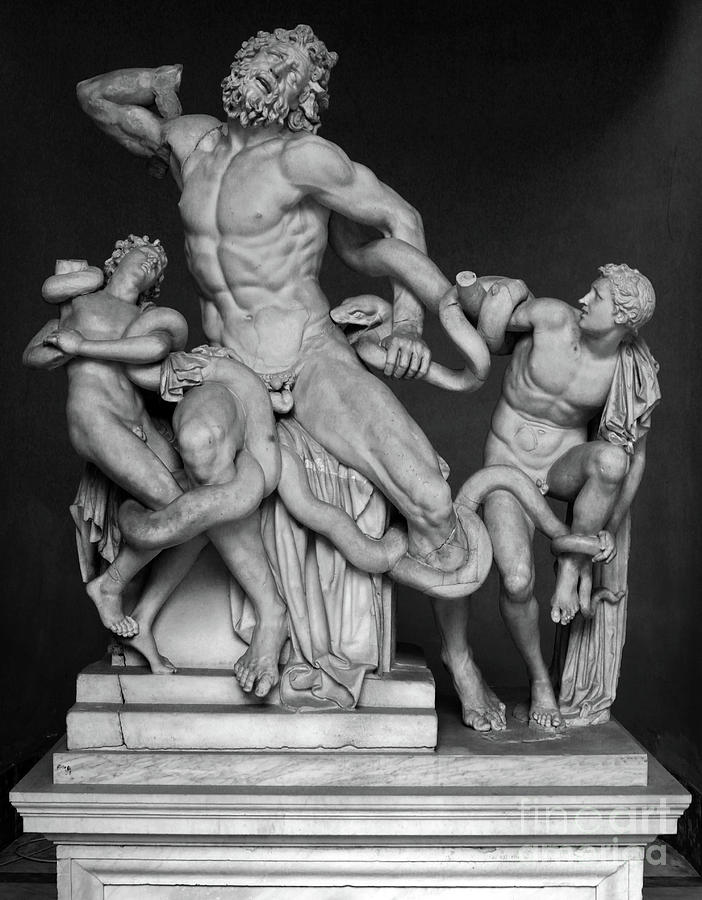 Laocoon and His Sons ancient Greek statue at the Vatican by Gregory Dyer