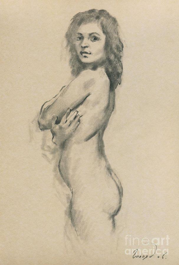 Nude Drawing - Lara by Bogdan Goloyad