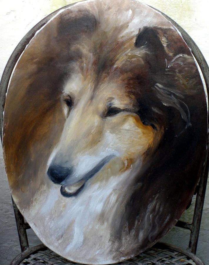 Dogs Painting - Lara by Elisabeth Nussy Denzler von Botha