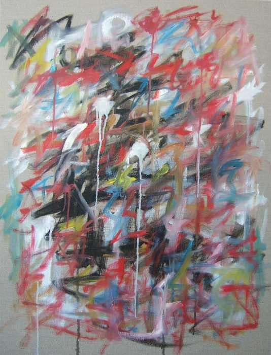 Abstract Painting - Large Abstract No 4 by Michael Henderson