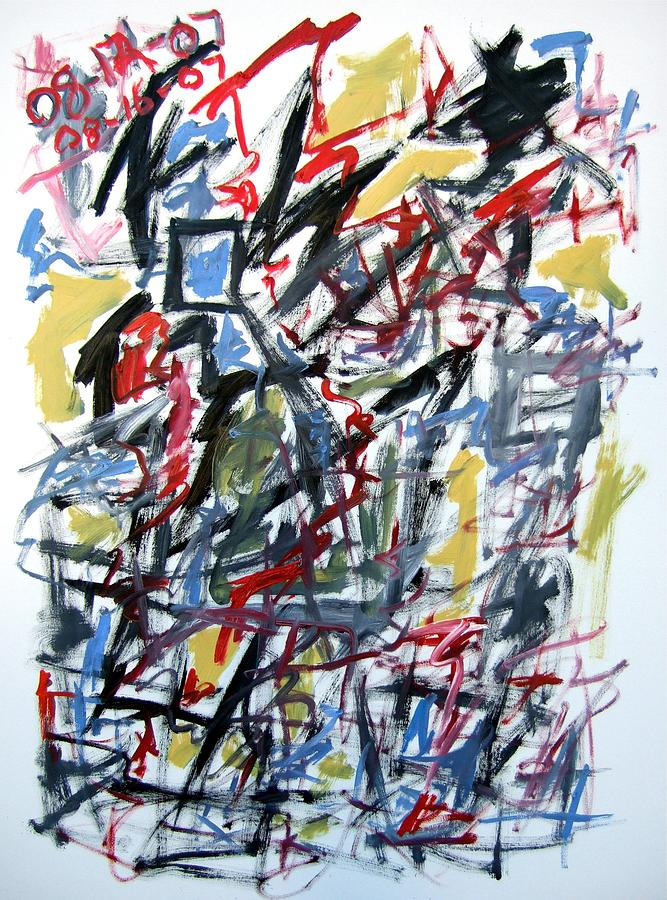 Abstract Painting - Large Abstract No. 5 by Michael Henderson