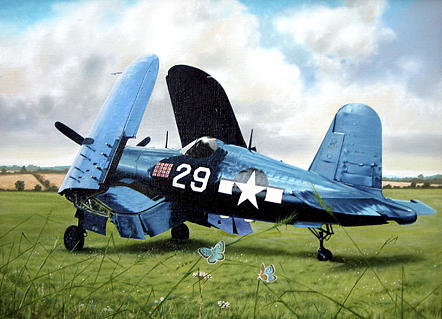 Aviation Painting - Large Blue by Sidney Chambers