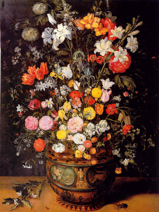 Large Bouquet Of Flowers Painting by Jan Brueghel the Younger